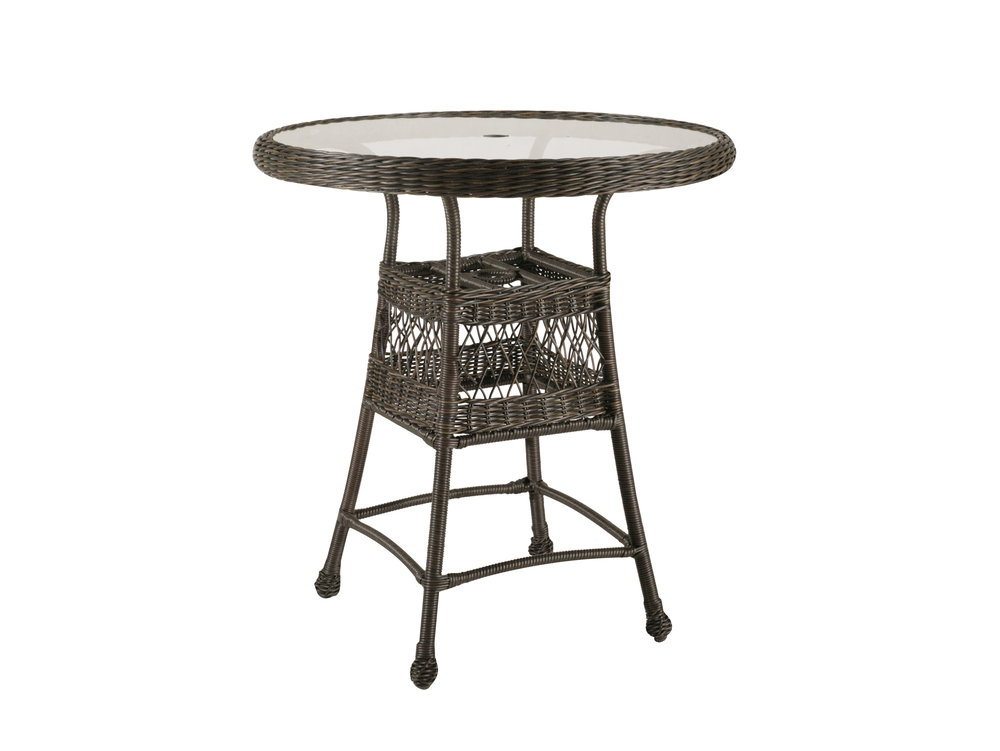 "9  93036 36"" Round Bar Table   38.5"" dia 42"""