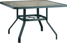 "B-42S 42"" Square Dining Table           30.2"" x  40.8""  x  38.9"""