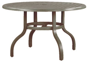 "R-48D 48"" dining table base         Top: W-48RU Farnham 48"" Round Wood Top with Hole"