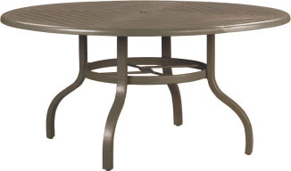"R-60D 60"" Dining Table Base           Top: W-60RU Farnham 60"" Round Wood Top with Hole"