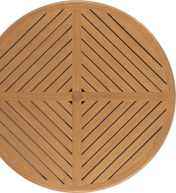 "W-48R 48"" Round Table   TOP *   48"" dia x   with Umbrella Hole"