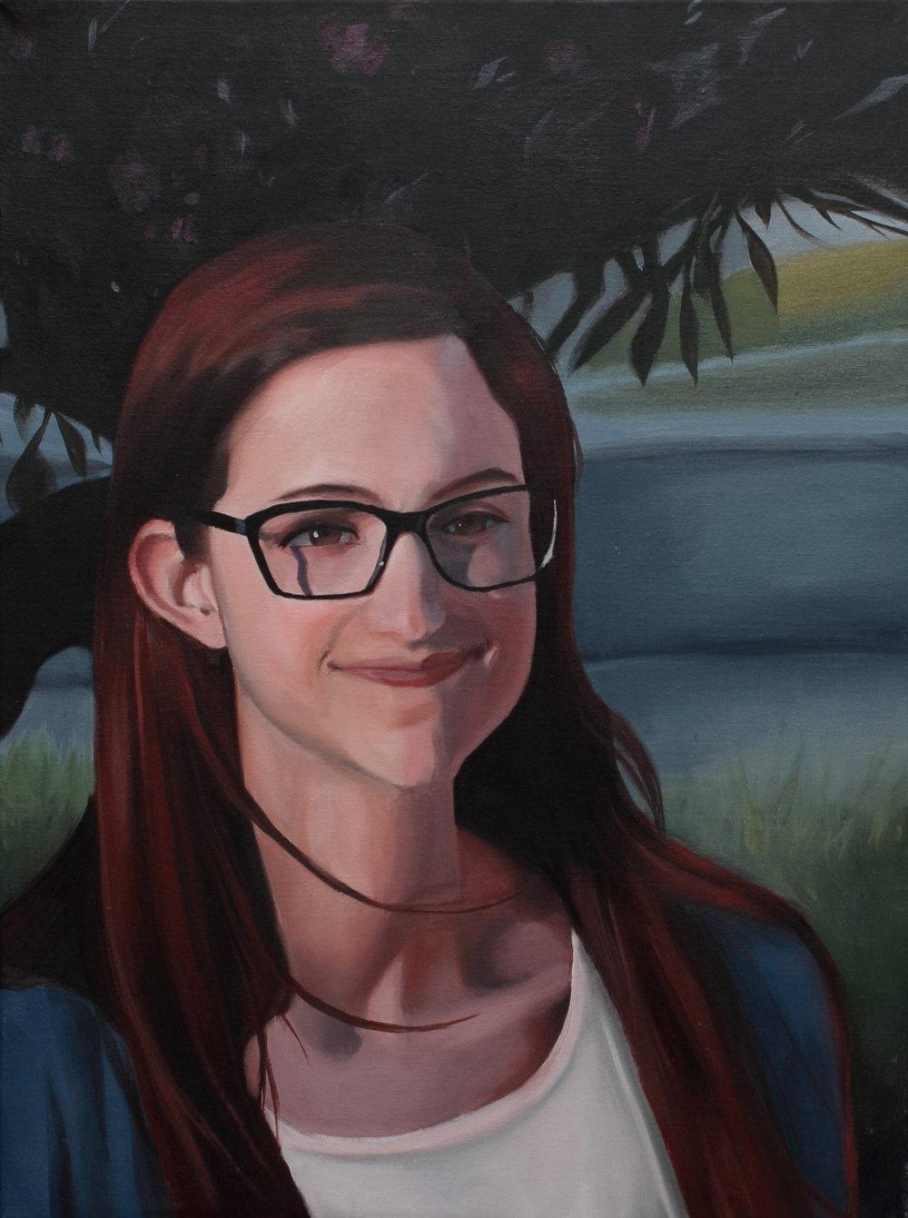 Emily in Oil