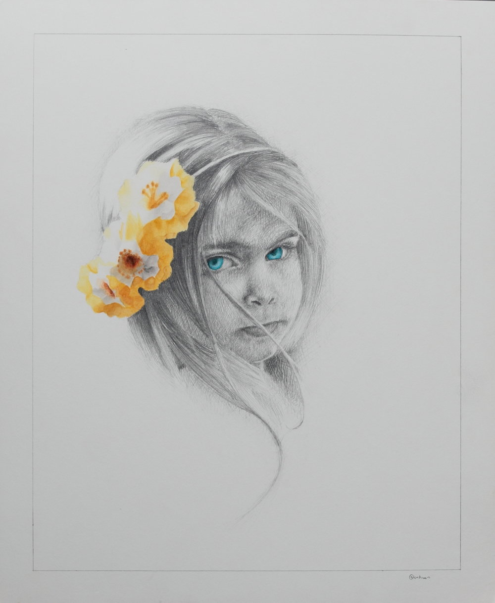 Flower Girl in Mixed Medium