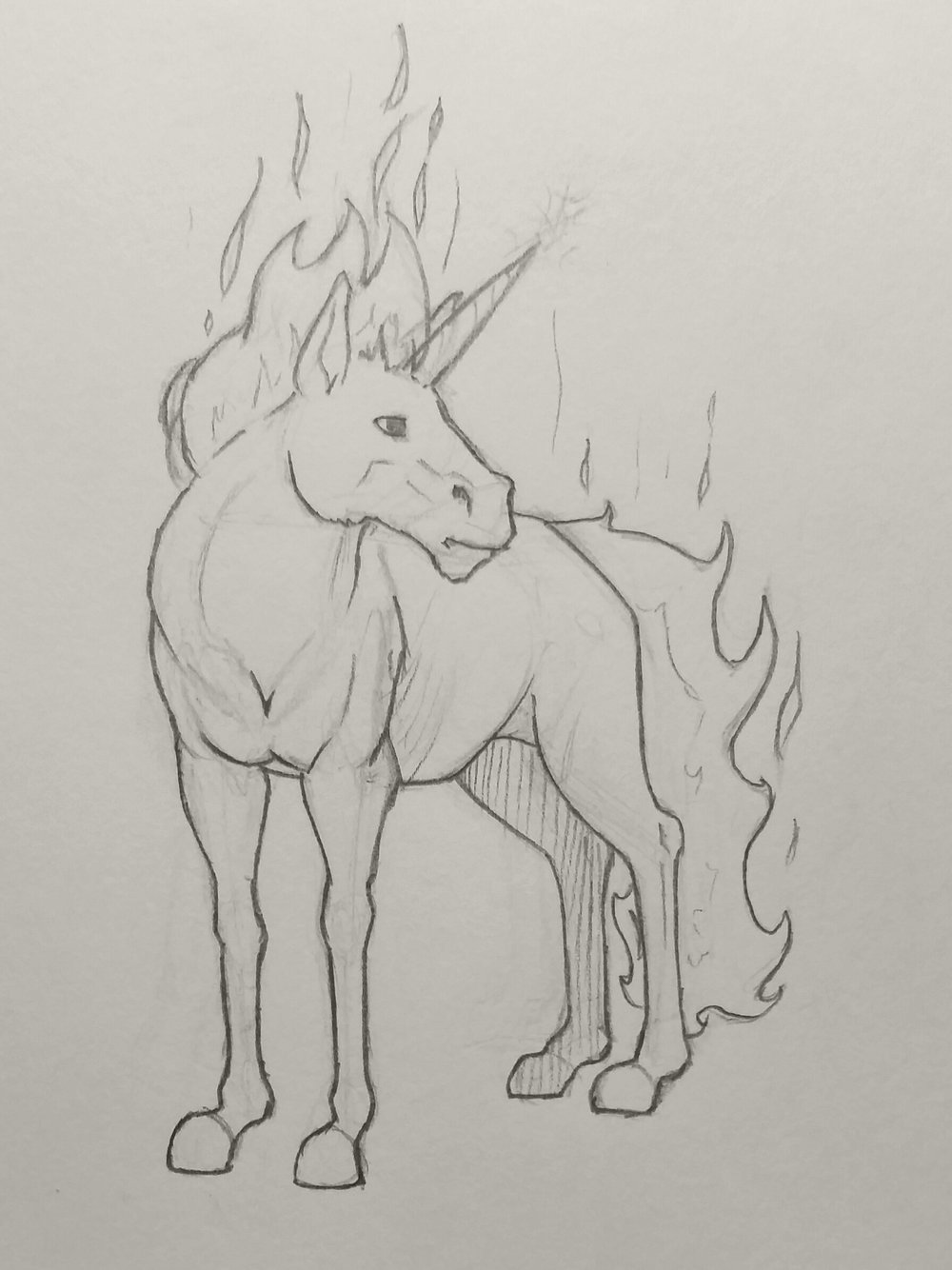 Flame Unicorn