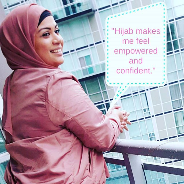 Happy #worldhijabday to all my lovely sisters who decide the level of modesty that they feel comfortable with, every day. Hijab is a lot of different things to everyone. To me, it is an expression of my faith in Allah SWT. It is a daily reminder to continue to pursue a better path and be a better human being. Hijab makes me feel empowered. I chose to wear it when the timing felt right and I haven't regretted it since then. I feel confident and at ease. It has become an extension of who I am. What does hijab mean to you?  #hijabi #blogger #modestfashion #fashionblogger #bodypositivity #modesty #empoweringwomen #hijabday #worldhijabdaytoronto #plussize #plussizemodesty #whatdoeshijabmeantoyou
