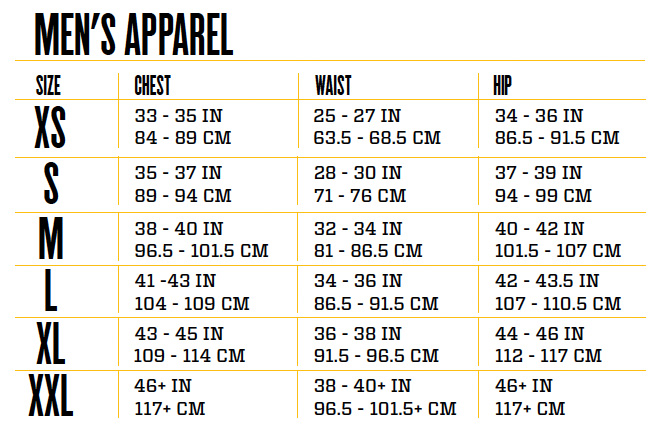 waist size chart for men: Our addicts condition addiction clothing