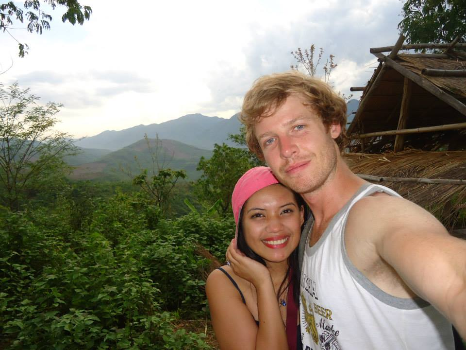 Our first photo together in Luang Prabang, Laos! Who would have thought from 2 random backpackers we would end up traveling the world, visiting more than 60 countries together and finally getting married? Love this guy so much!