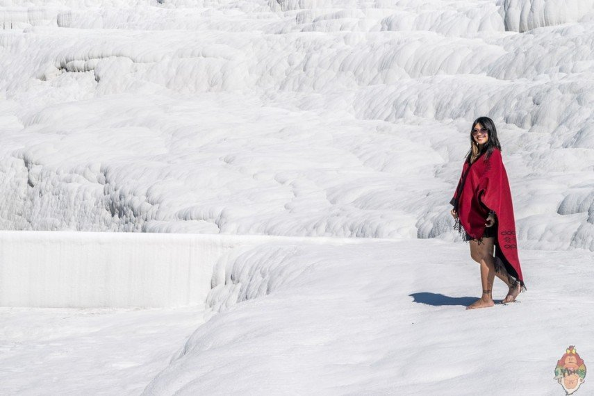 Enjoying Pamukkale!