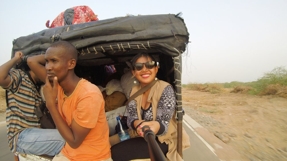 Crossing the border from Djibouti to Somaliland!