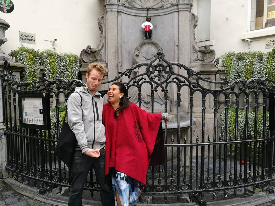 #CapturedonP9 #Brussels #HuaweiMobileUK_The Manneken Pis with Mr Howe.jpg