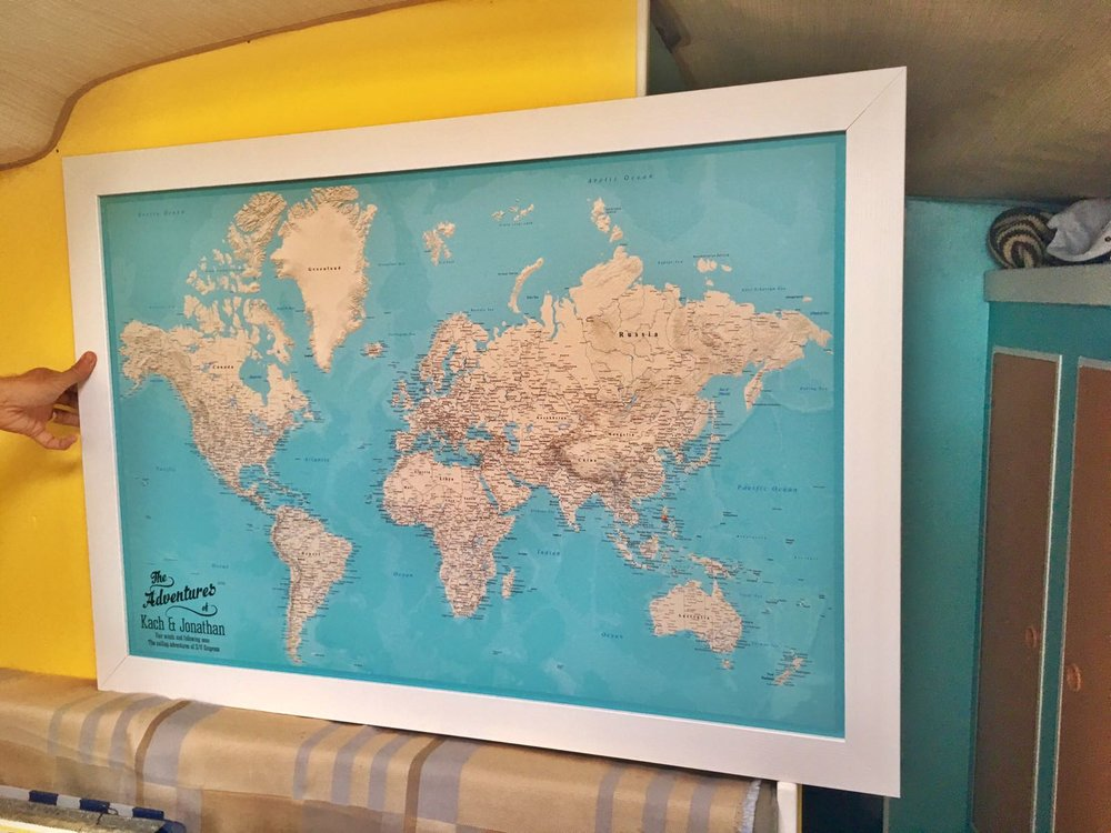 Push Pin Travel Maps : The Perfect Gift For A Traveler — Mr&MrsHowe ...