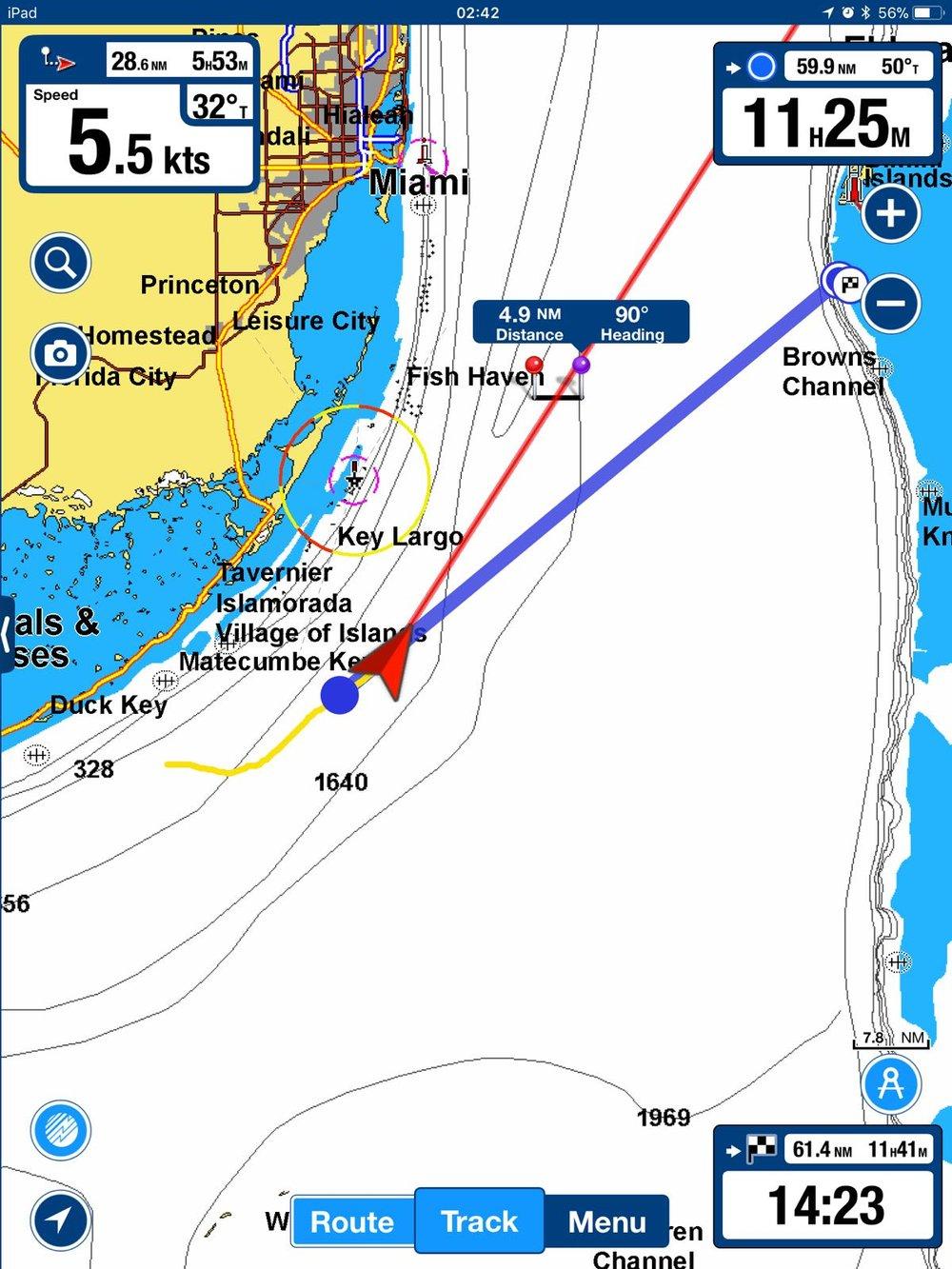 Crossing the Gulf Stream Directly from Boot Key City Marina in Marathon, Florida Keys to Bimini, The Bahamas - Captain's Log #1