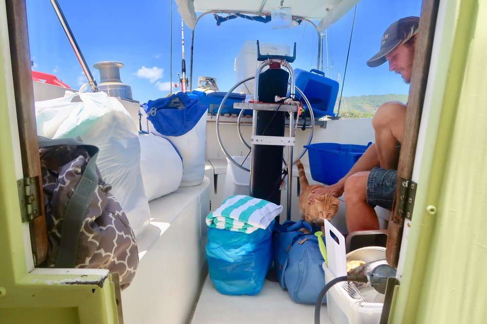 Sailing Life Day 51: Working on our Boat Projects - Cleaning, Upholstery & Online Work