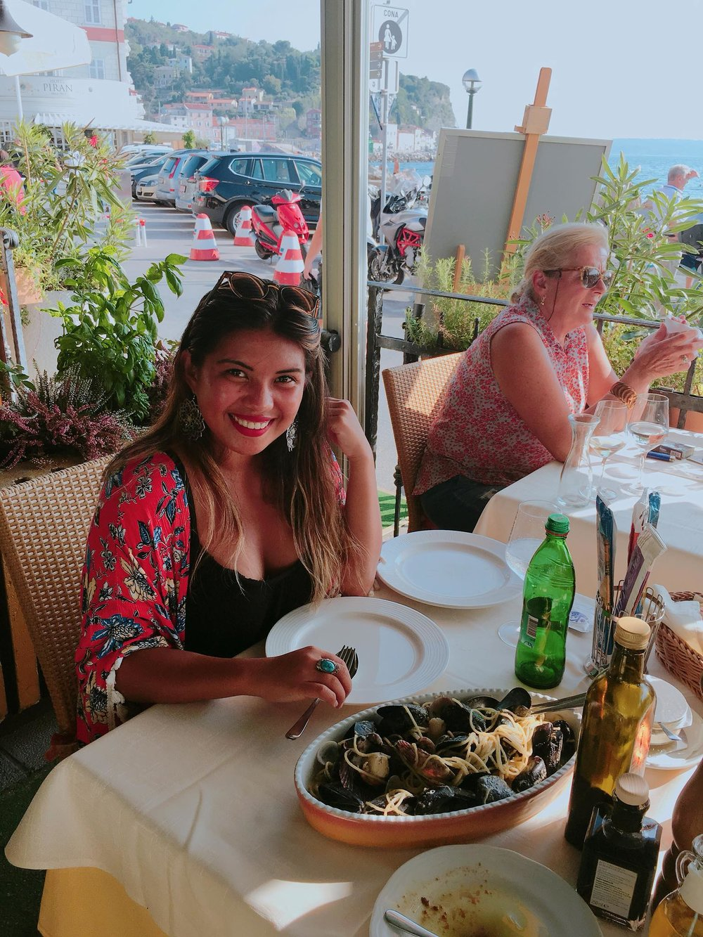 Kach Solo Travels Day 40: Swimming in the Adriatic sea and enjoying Piran, Slovenia