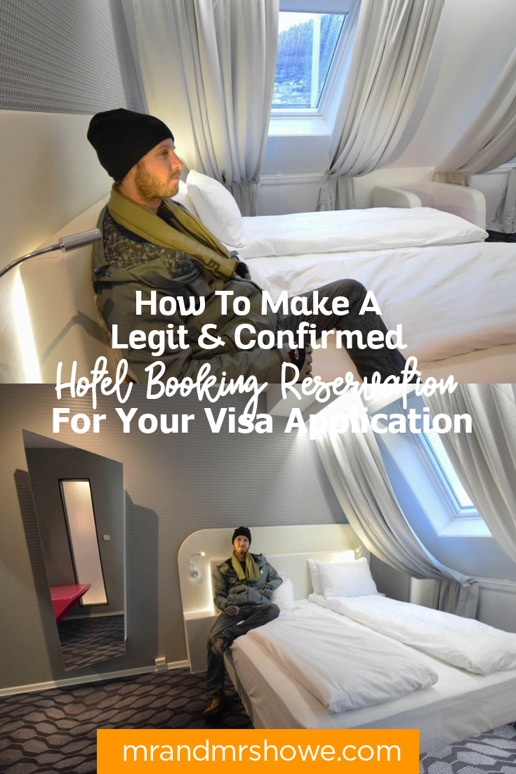 """""""Dummy"""" Hotel Booking for Schengen Visa: How To Make A Legit & Confirmed Hotel Booking Reservation For Your Visa Application"""