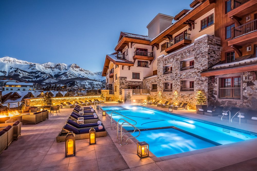 Pool, Madeline Hotel, Mountain Village, Telluride, CO.