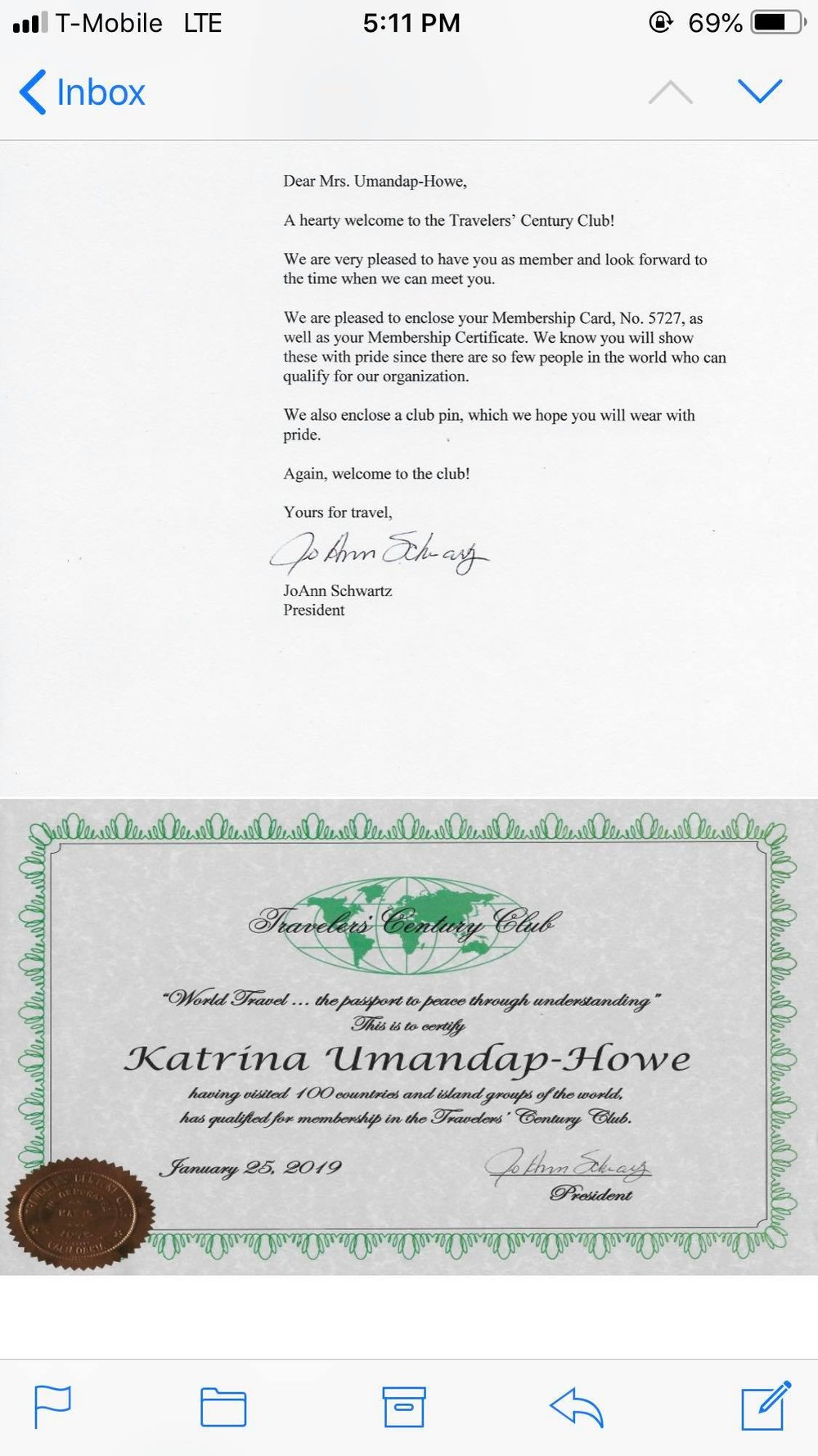 Great news This Filipina Traveler is Accepted to Travelers Century Club1.jpg