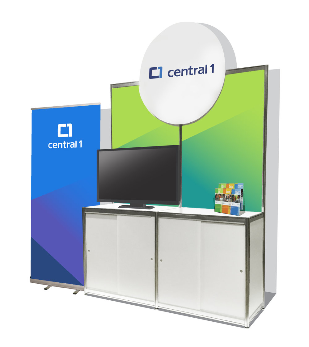 The 6' Easy Exhibits will be grouped in pods of three or four in the Exhibit Hall. A round fascia sign with your company name/logo is included at no additional charge.