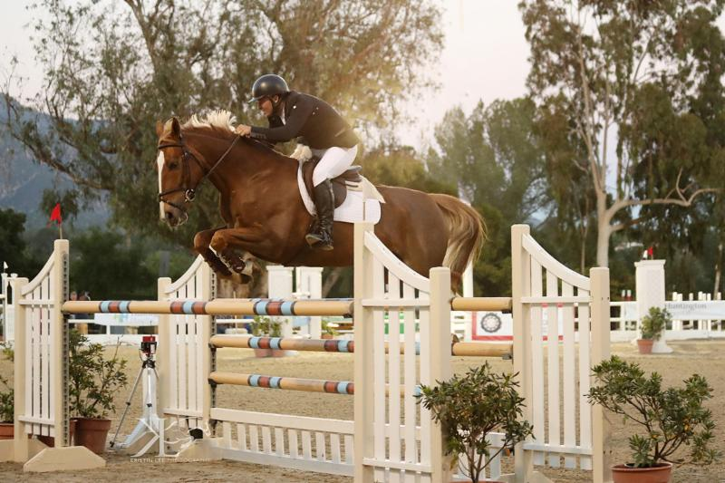 Conratulations to $15,000 Grand Prix of Flintridge Winner, Kevin Winkel and Osophia. West Palms Events Photo © Kristin Lee Photography LLC — with Land Rover at Flintridge Riding Club.