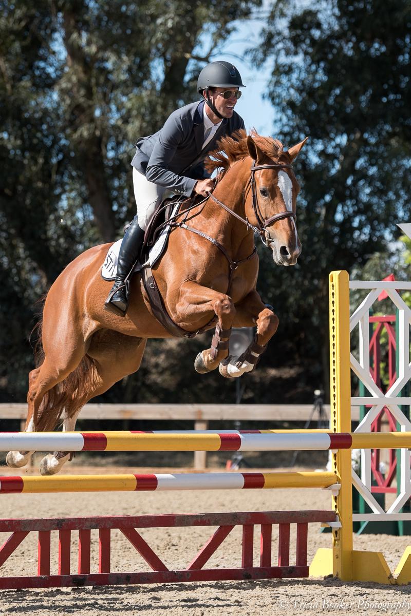 Andrew Jayne riding Louisa Baker's Illuminesche