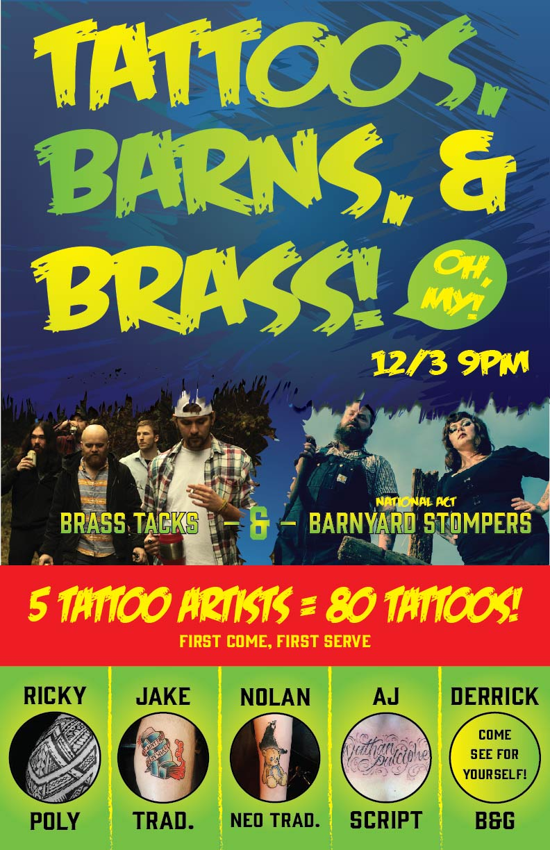Tats Barns and Brass OUTLAW PARTY