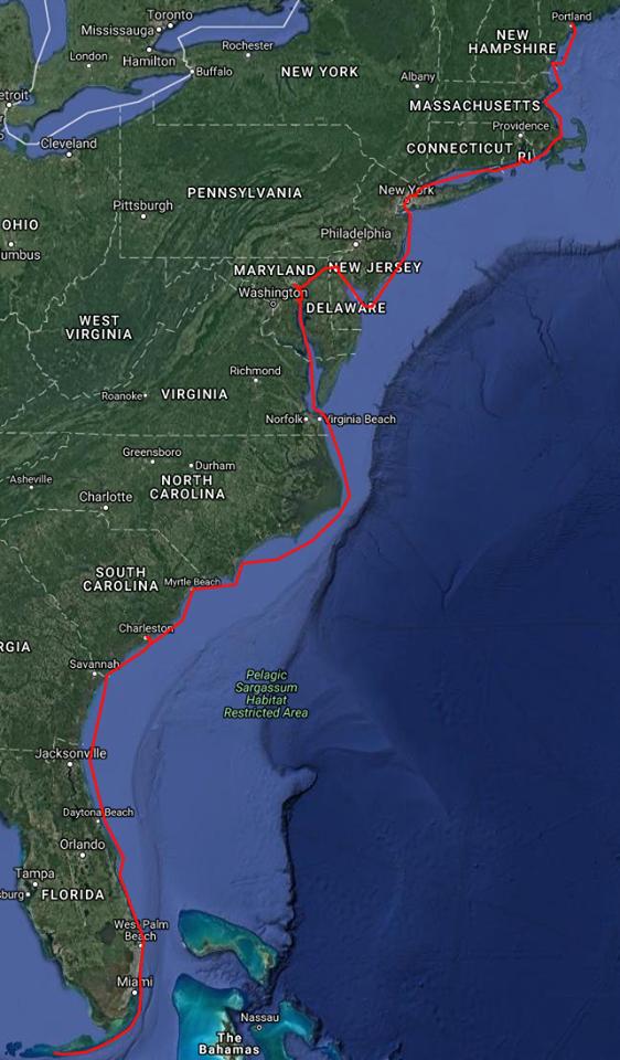 SC 2016 Voyage Map