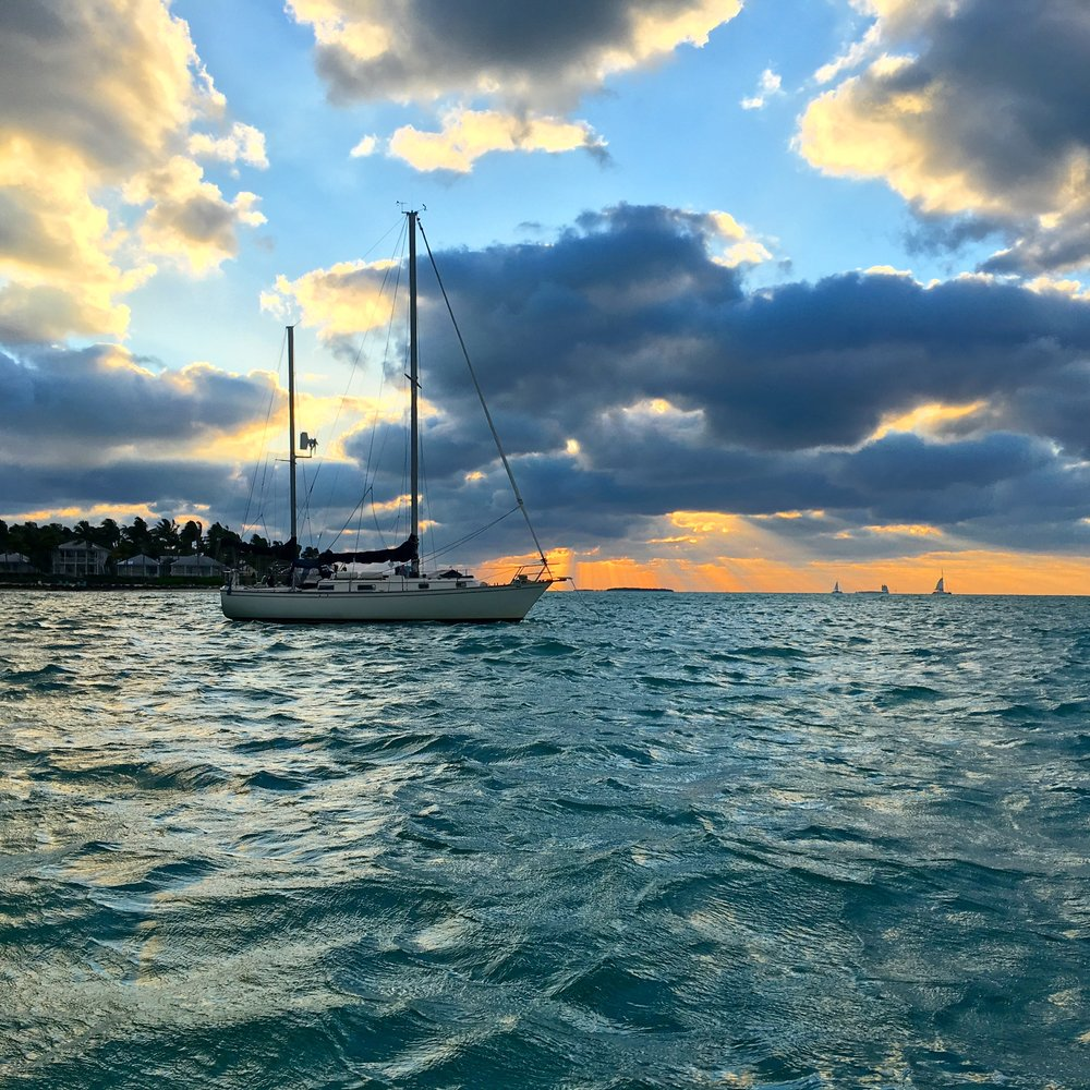Boat Key West Sunset.JPG