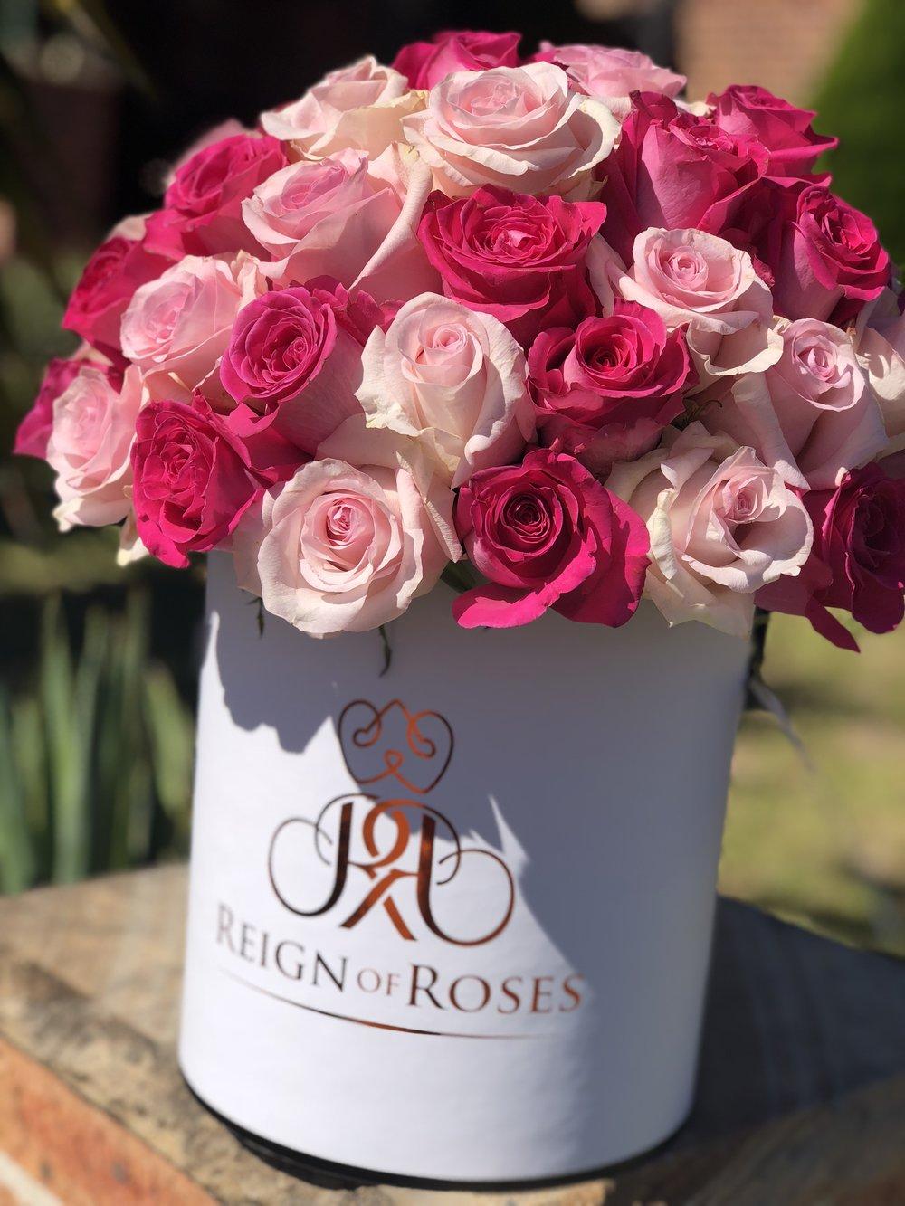 Pink Hues 50 Roses