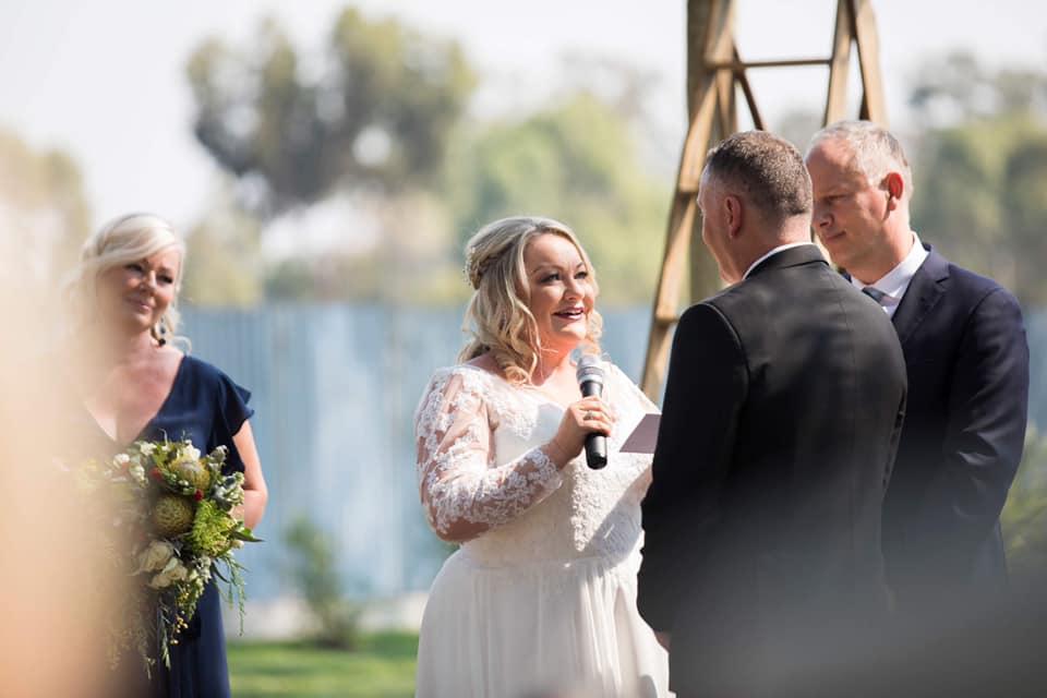 Kim and Paul Rule's wedding day