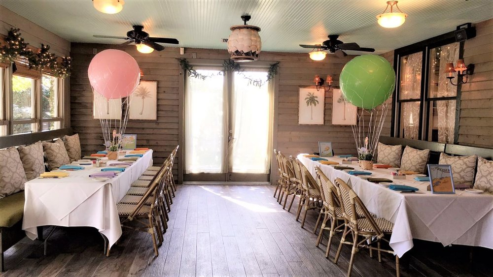 We Chose A Beautiful Cafe To Host The Shower At   The Dining Porch Where We  Set Up Overlooked The Patio And Garden Giving The Entire Space A Very Chic  Look.