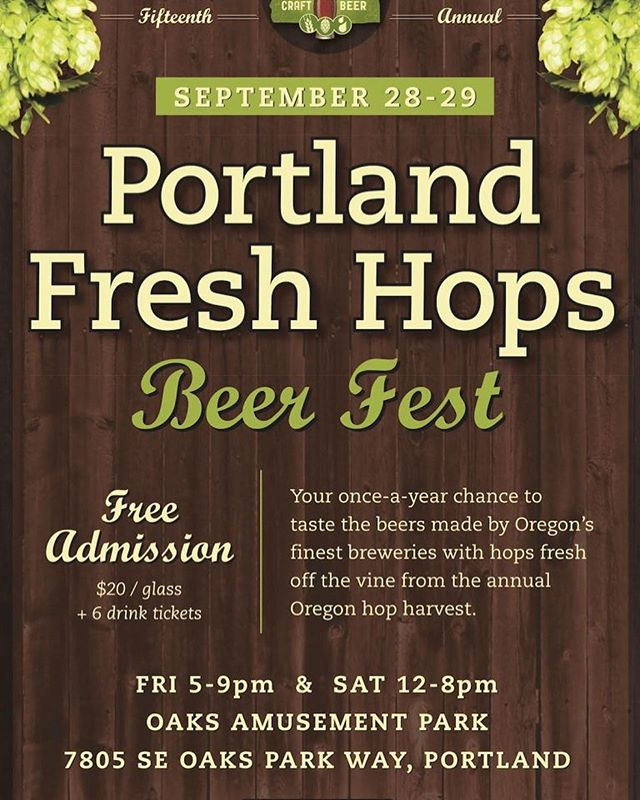 Come try our Prescription Pils at the #freshhop #beerfest at #oaksbottom. Be sure to try all the other ones too. Hard to go wrong.