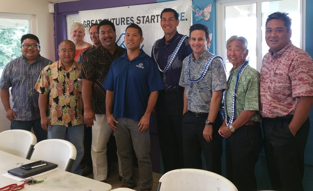 BGCBI Board members & CEO Chad Cabral meet with Senator Brian Schatz, Senator Kai Kahele & the late Clifton Tsuji to discuss new strategies to strengthen youth initiatives.  n