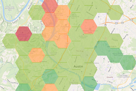 Flexible, branded hotpsot map shows nearby hotspot locations online or offline