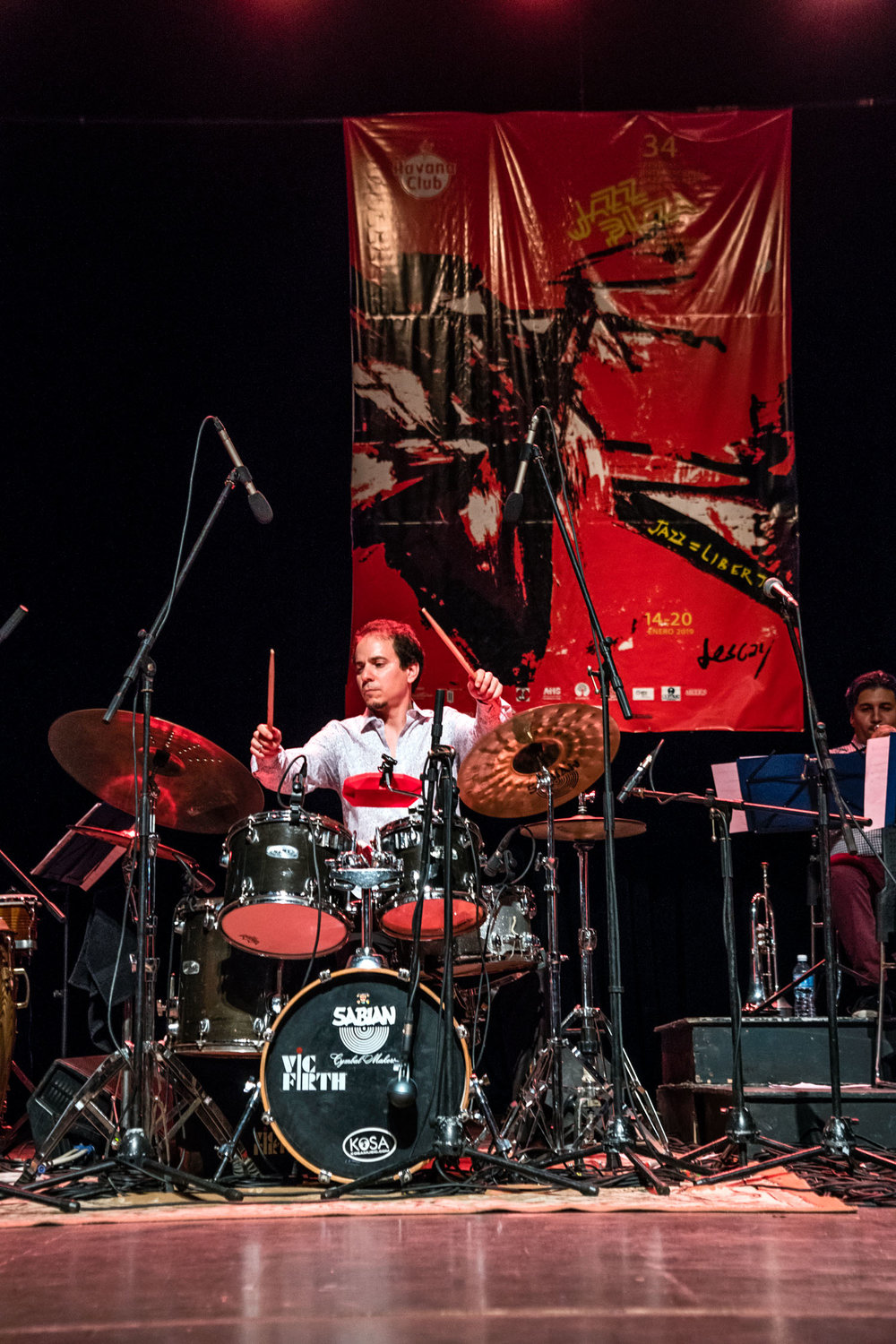 Dafnis Prieto performing at Teatro Mella, Havana, Cuba, January 2019 (Photo by David Garten)