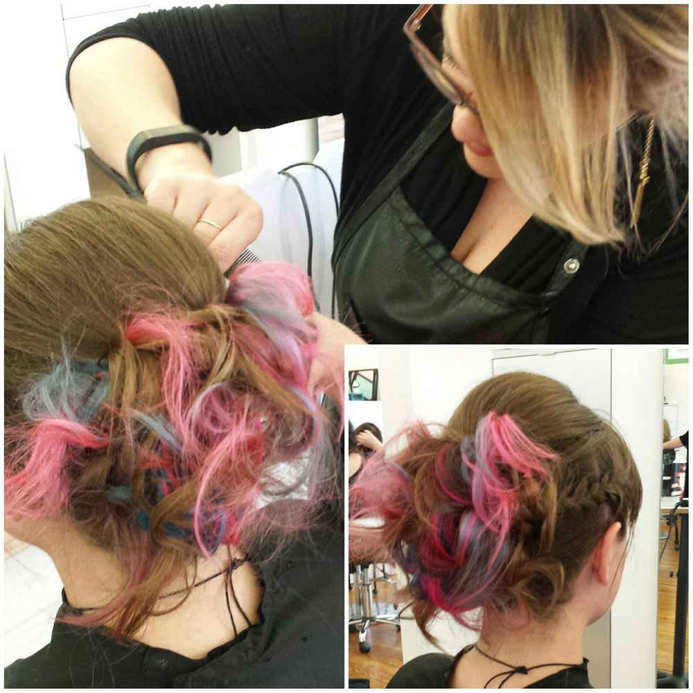 Funky Updo by Mandy Asberry.