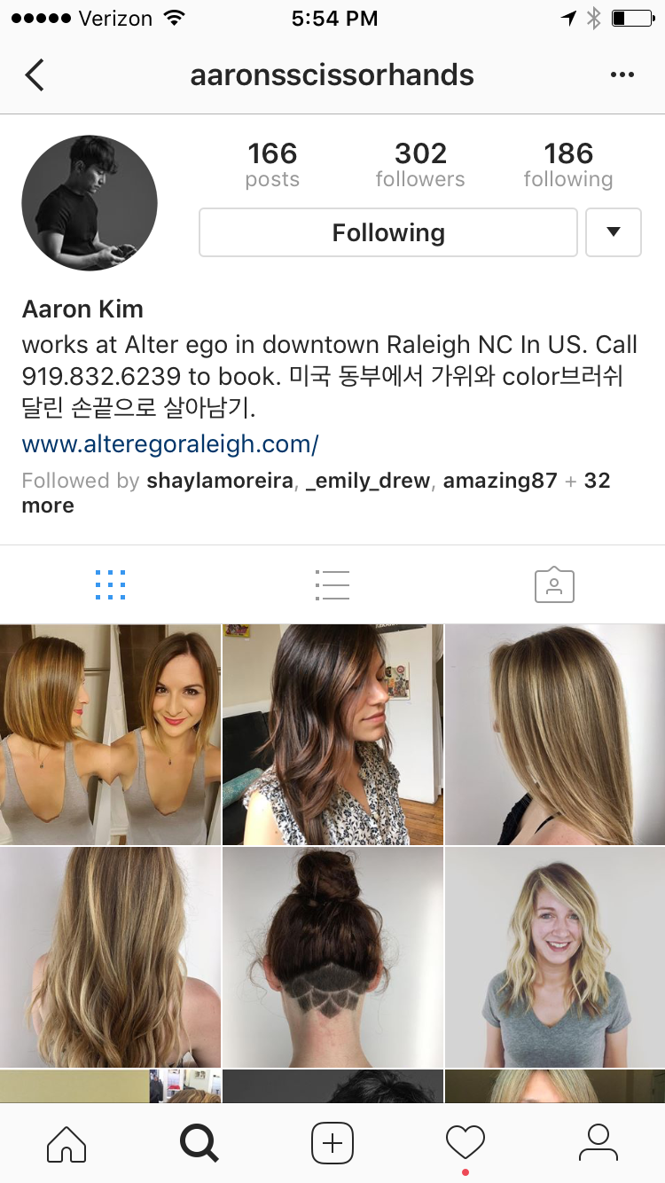 Aaron Kim, Raleigh Hair Stylist & Colorist — Alter EGO Salon and ...