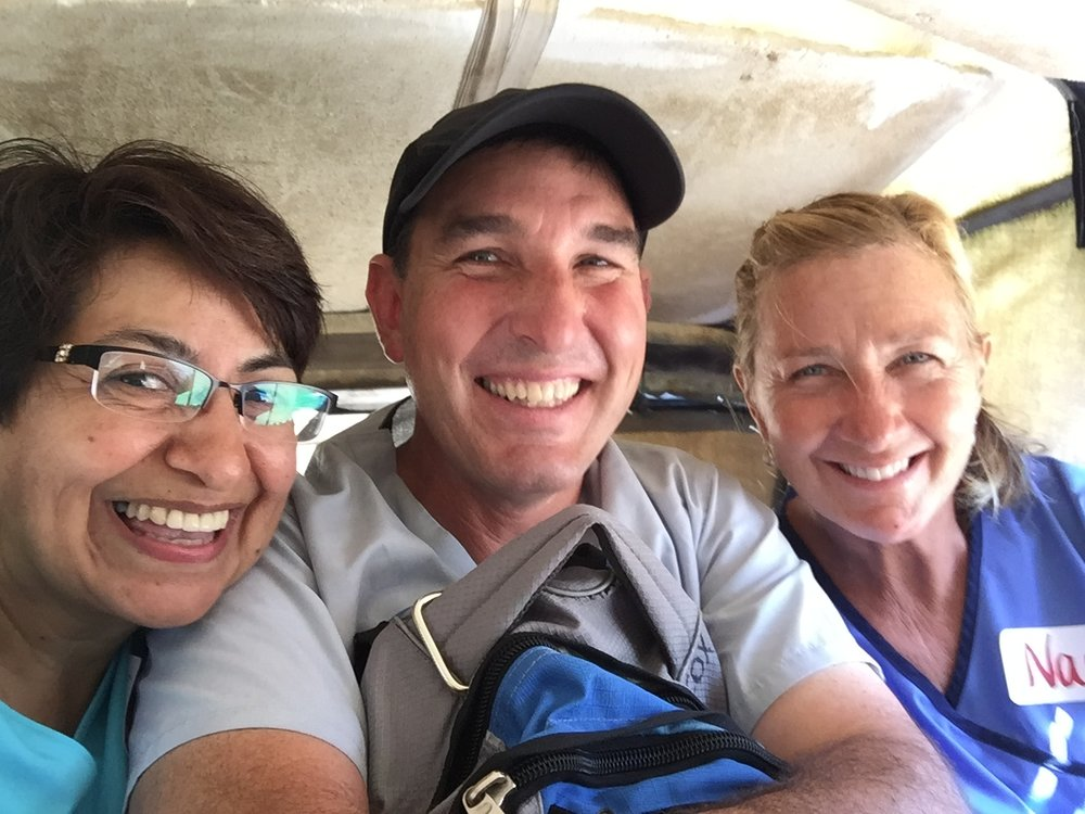 Ileana, Mr. Cox and Mrs. Reid on a tuk tuk ride as they went from home to home providing physical therapy advice and instruction to various people in need.