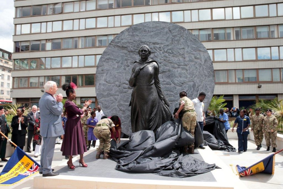 St Thomas' Hospital, London, June 2016: Statue of Mary Seacole unveiled. Photo Credit: Nursing Times.
