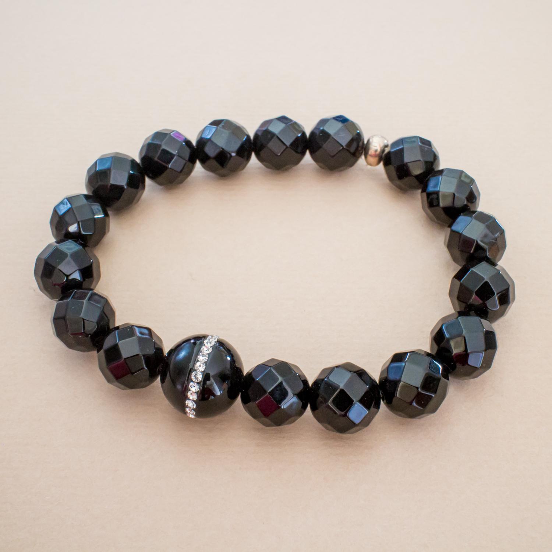 bbf9ad81e9 Black Onyx & Swarovski Bracelet | evangeline jewelry