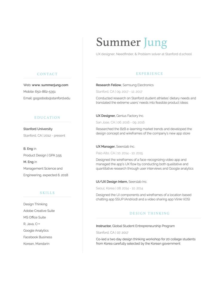 A short summary of my work :) — Summer Jung