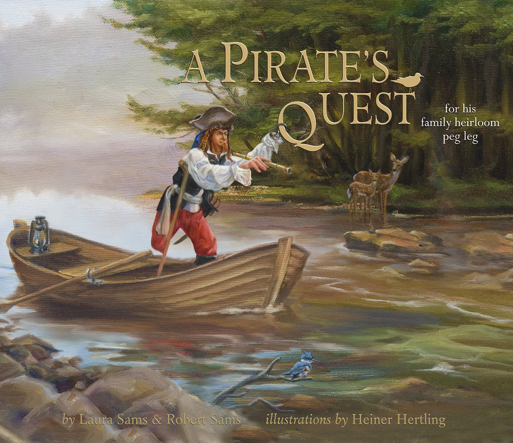 Cover of A Pirate's Quest, by Laura Sams and Robert Sams, illustrated by Heiner Hertling