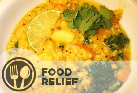Food relief - Basing their work on the principles of service to humanity and the spiritual equality of all people, Caring For Life volunteer workers dedicate their time to bringing relief to those in need.