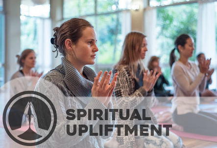 Spiritual upliftment - Through ancient practice of mantra meditation yogis are experiencing the spiritual upliftment that comes with self realisation and naturally enjoy sharing it with others.