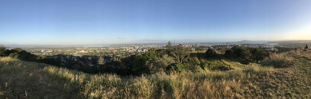 Panoramic view of Auckland from Mount Eden. Shot on iPhone 7
