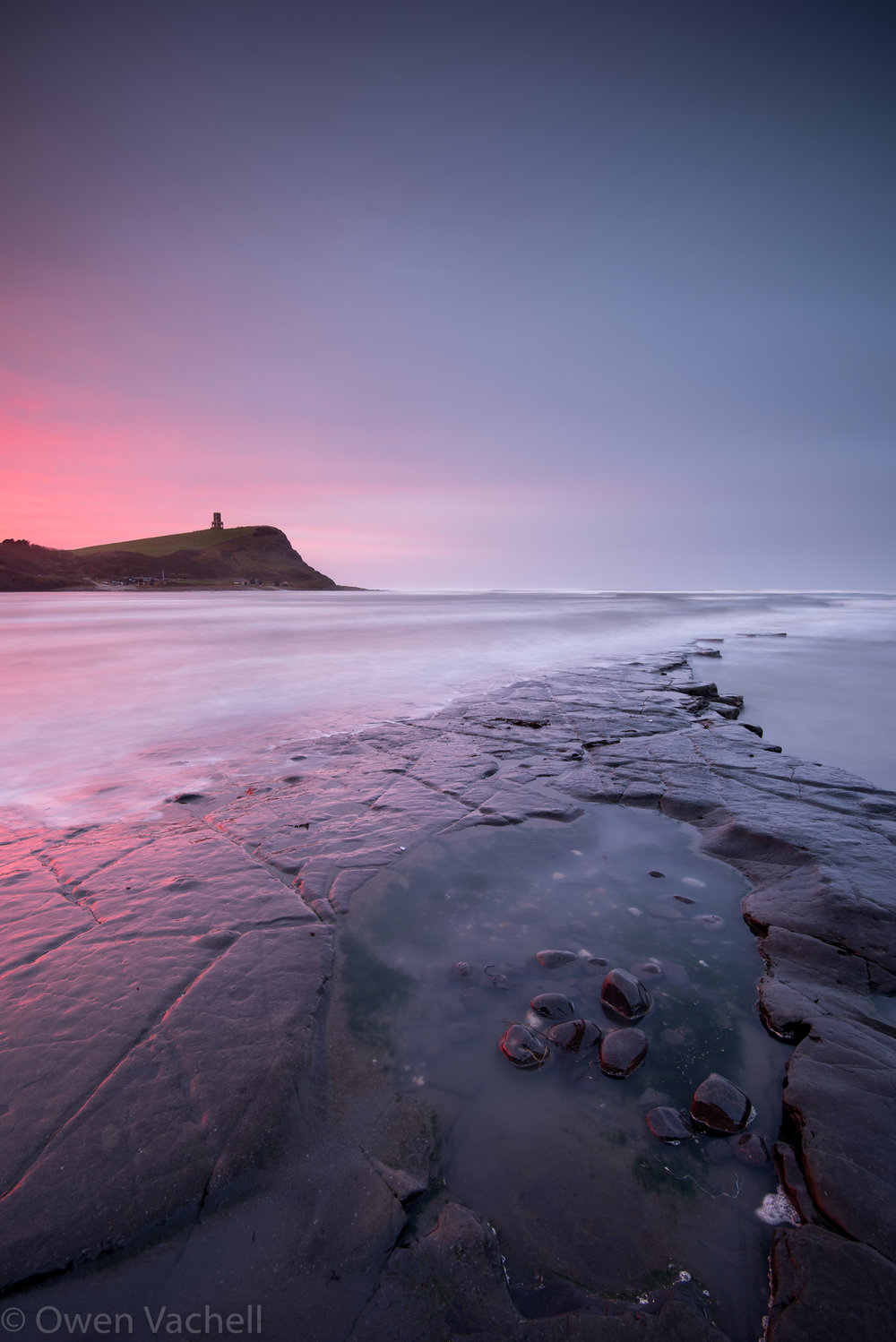 The iconic Kimmeridge Bay. Shot at f/11 to achieve maximum sharpness from the stones in the foreground all the way to Clavell's Tower, the furthest element in the scene.