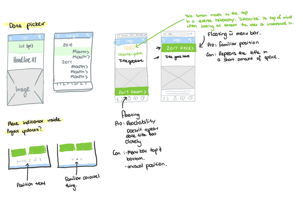 Project Update Version 2 UX — Blake Anderson