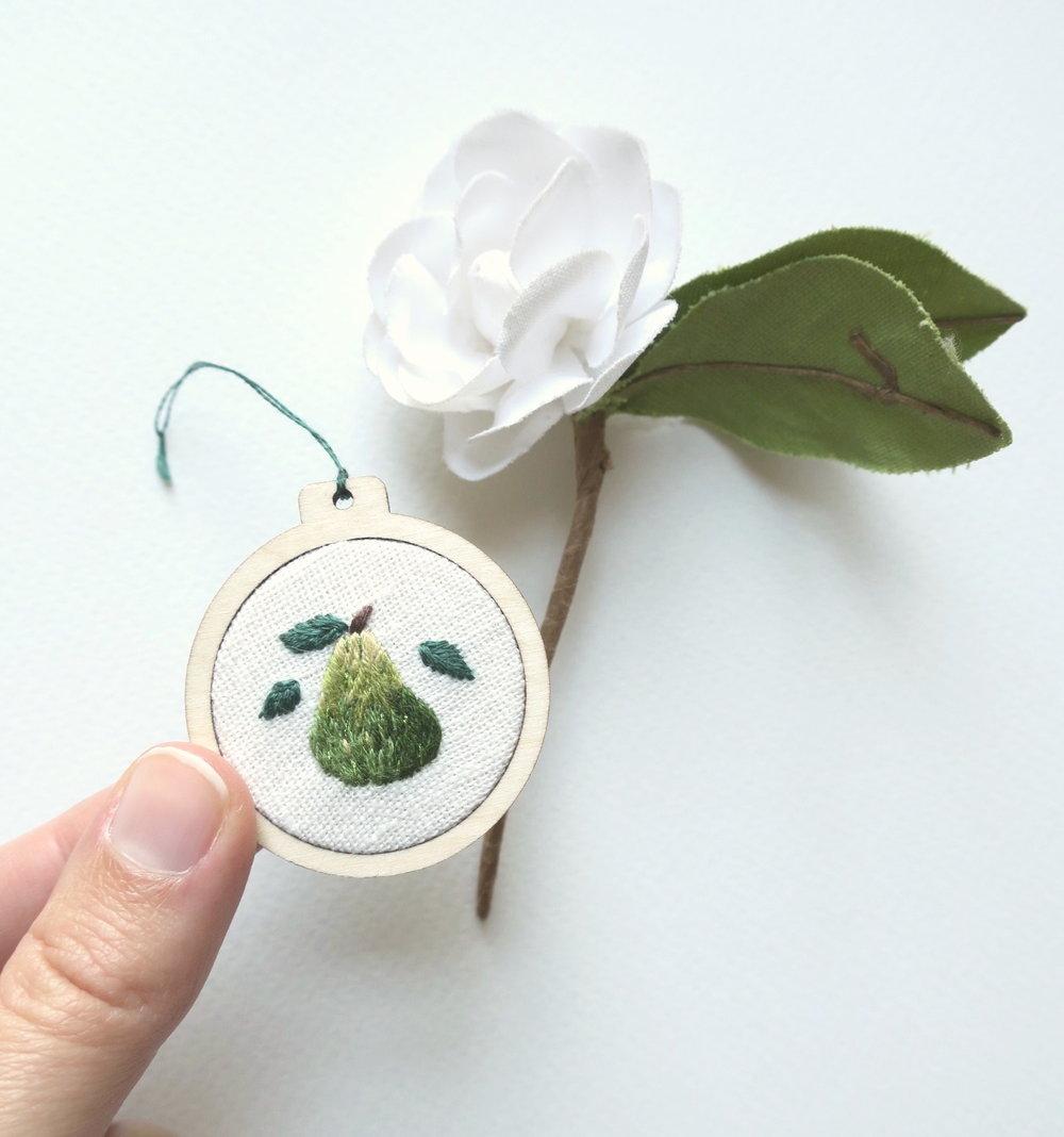 Cathy Eliot Pear Mini Hoop.jpg