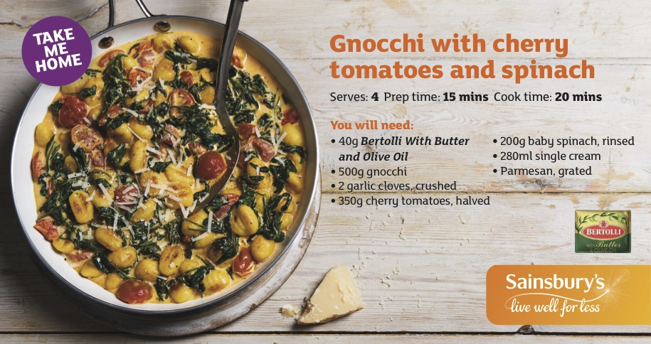 Publication: Sainsburys in-store recipe card, Feb 2018  Photographer: Vinnie Whiteman