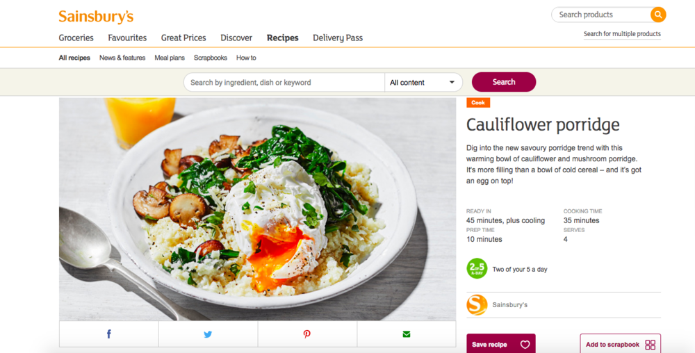 Publication: Sainsbury's online  Photographer: Stuart Ovenden  Food Stylist: Sian Davies  Recipe:  HERE
