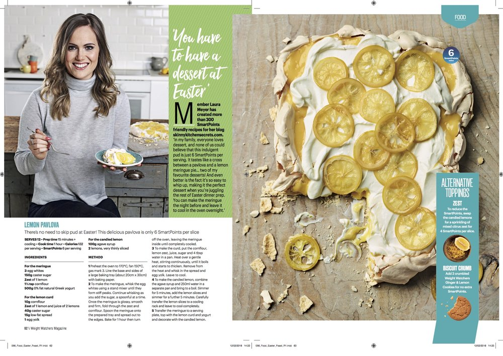 Publication: Weight Watchers magazine April 2018, Easter Feature  Photographer: Dan Jones  Food stylist: Polly Webb-Wilson  Prop stylist: Ginger Whisk